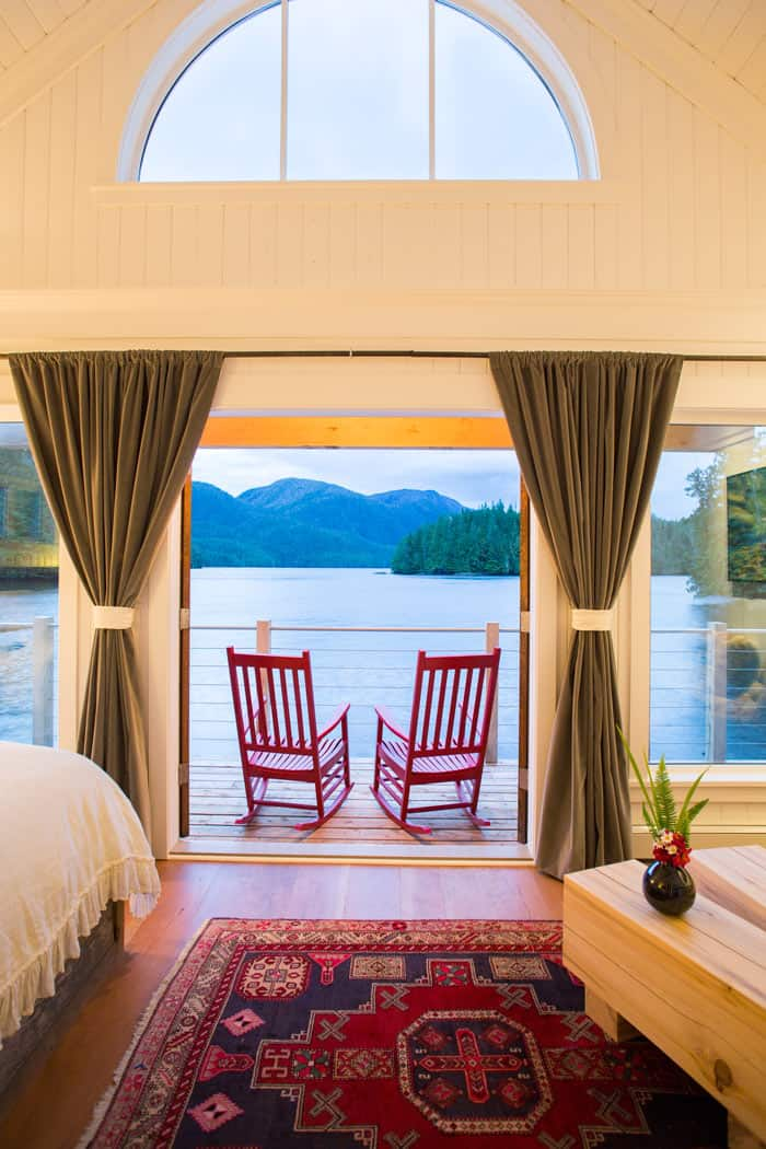 Nimmo Bay Wilderness Resort cabin