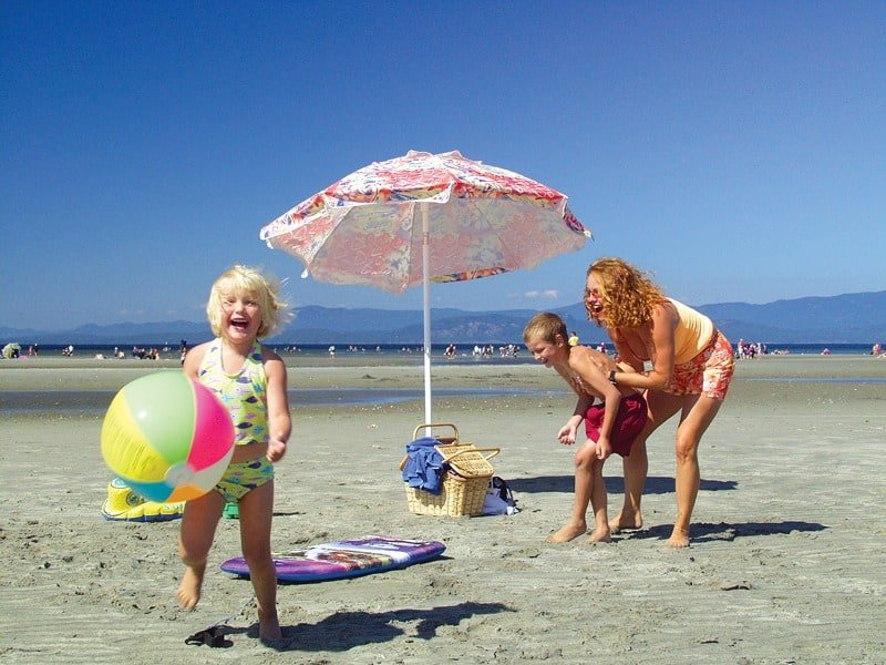 With its warm shallow beaches, Parksville makes a great stop on a Vancouver Island road trip.
