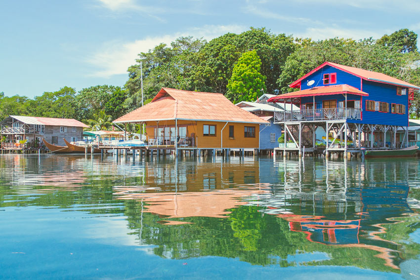 Bocas town is the gateway to small island resorts in the Bocas del Toro archipelago