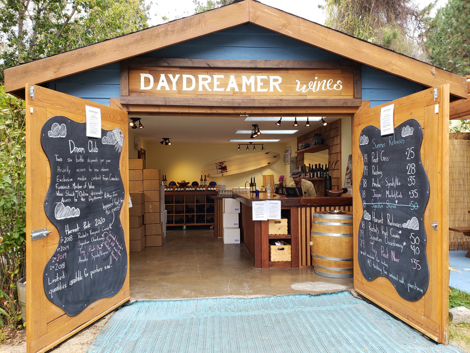 One of the best Okanagan wineries is the boutique Daydreamer Wines