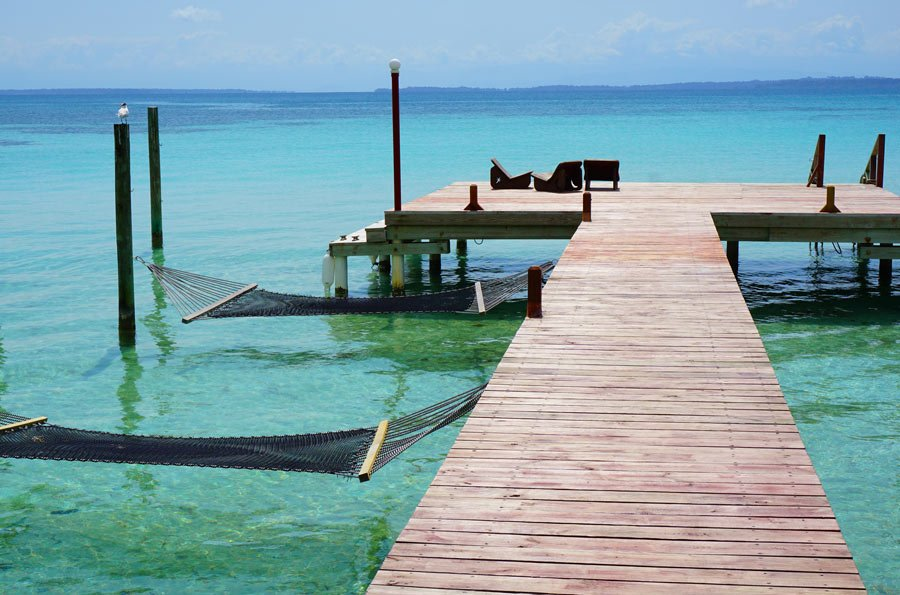Water hammocks at Casa Cayuco, Bocas Del Toro