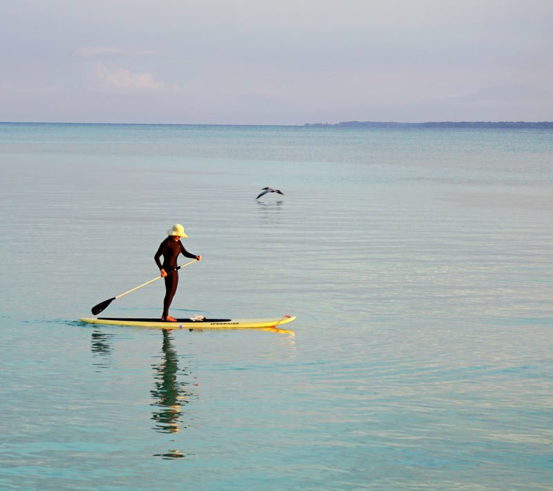 Stand-up paddleboarding at Casa Cayuco