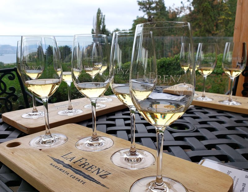 Wine tasting at La Frenz Winery, Naramata