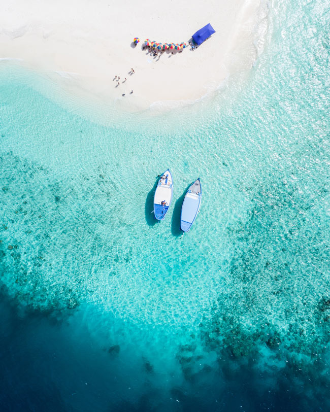 Maldives beach, one of the world's prettiest beaches