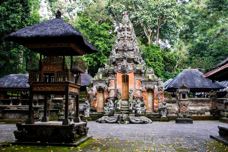 Temples at the Sacred Monkey Forest, Ubud, Bali