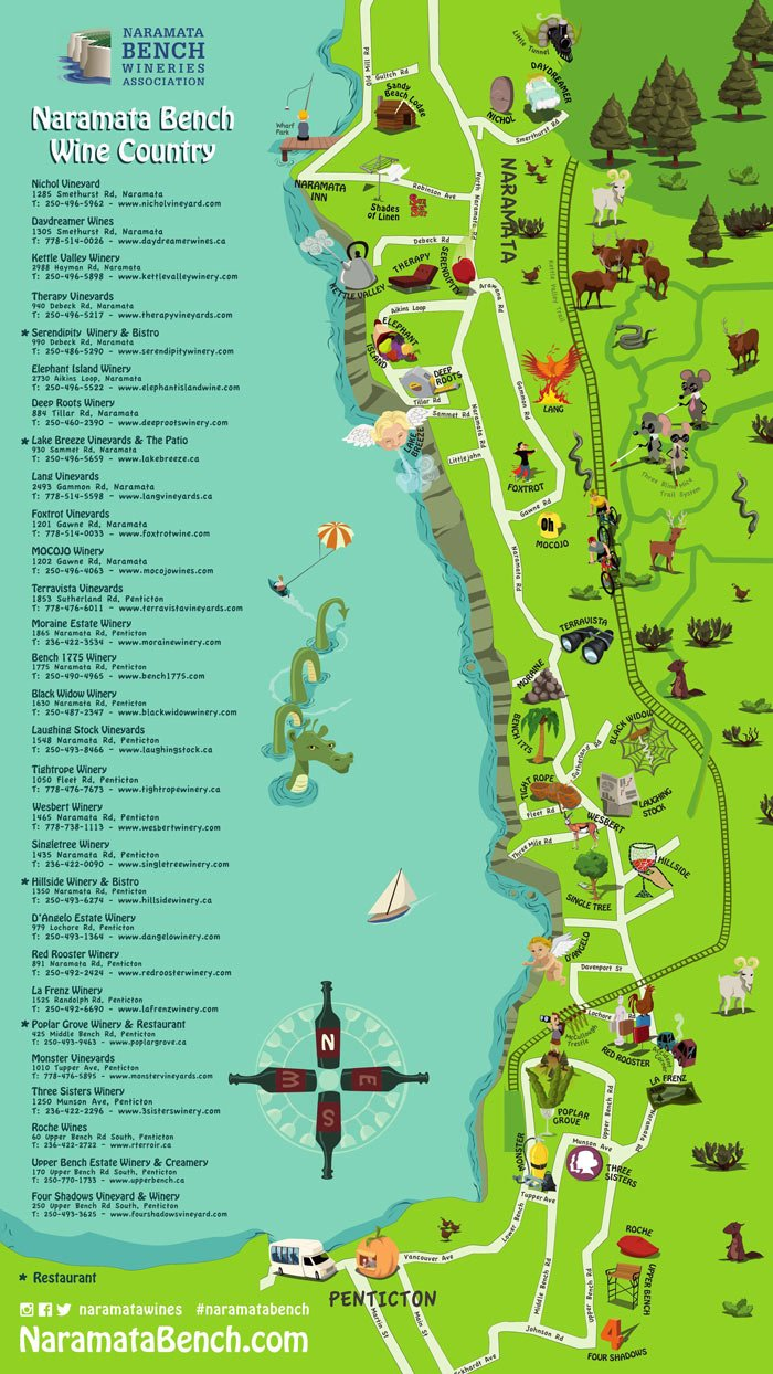 Naramata wineries map