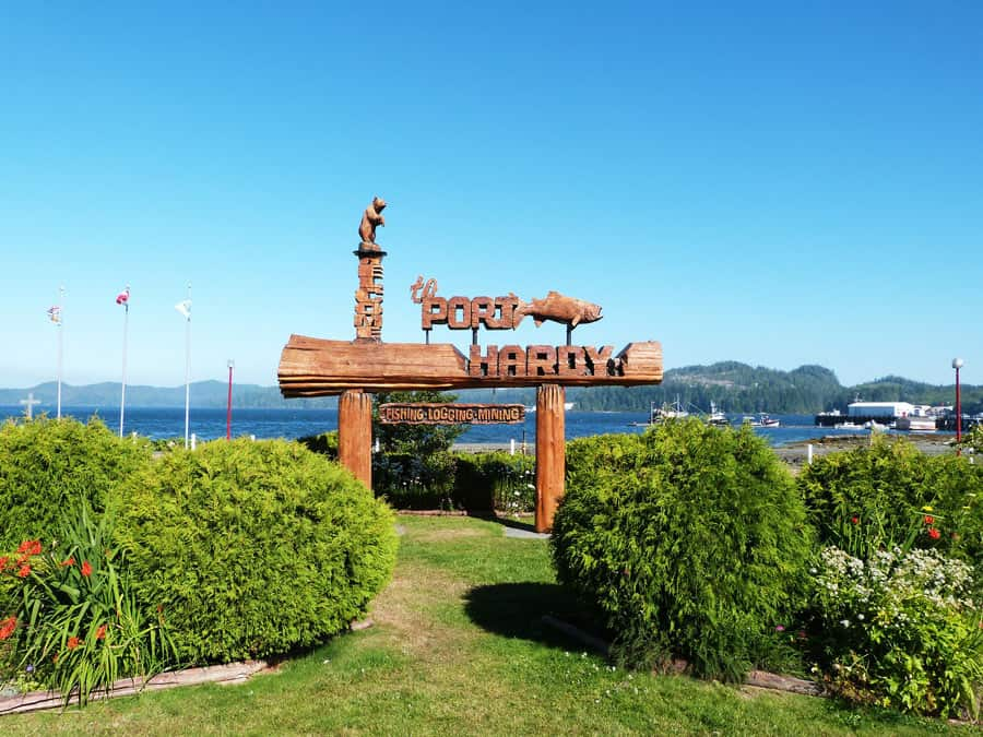 Port Hardy is the end of the road when driving Vancouver Island from bottom to top