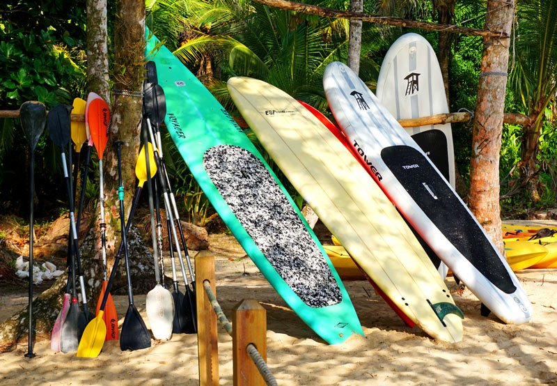 There are lots of things to do in Isla Bastimentos, including stand-up paddleboarding