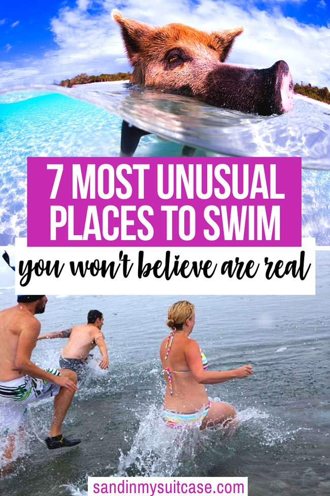 Unusual places to swim in the world