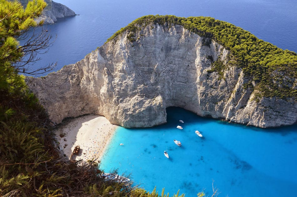 Navagio Beach on Zakynthos, Greece, is one of the top beaches in the world