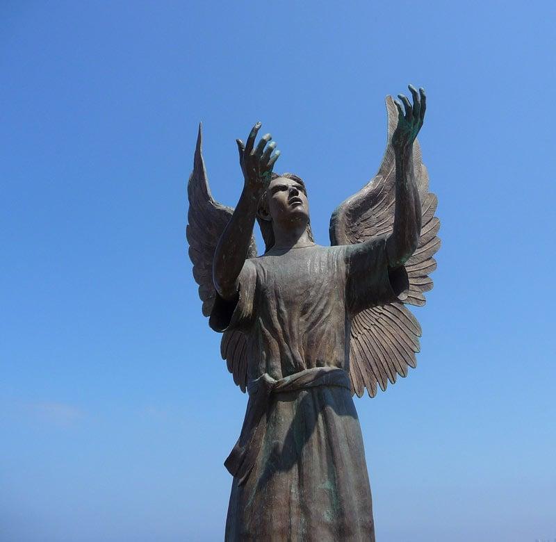 Angel Statue on the Puerto Vallarta Malecon