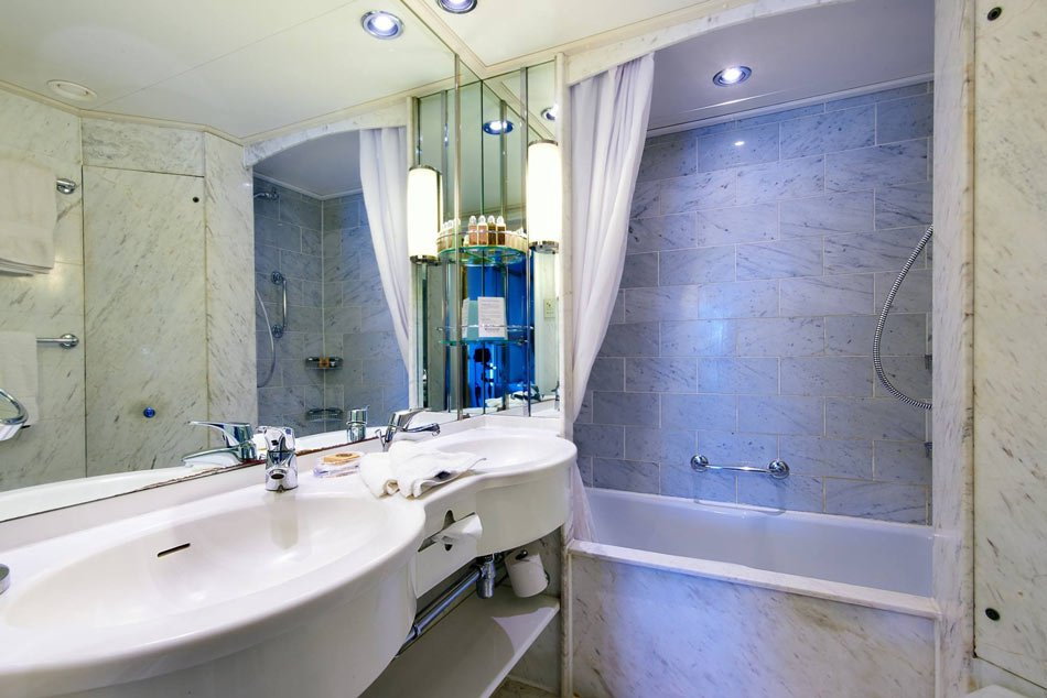 "Bathroom on Windstar Cruises ""Star Pride"" ship"