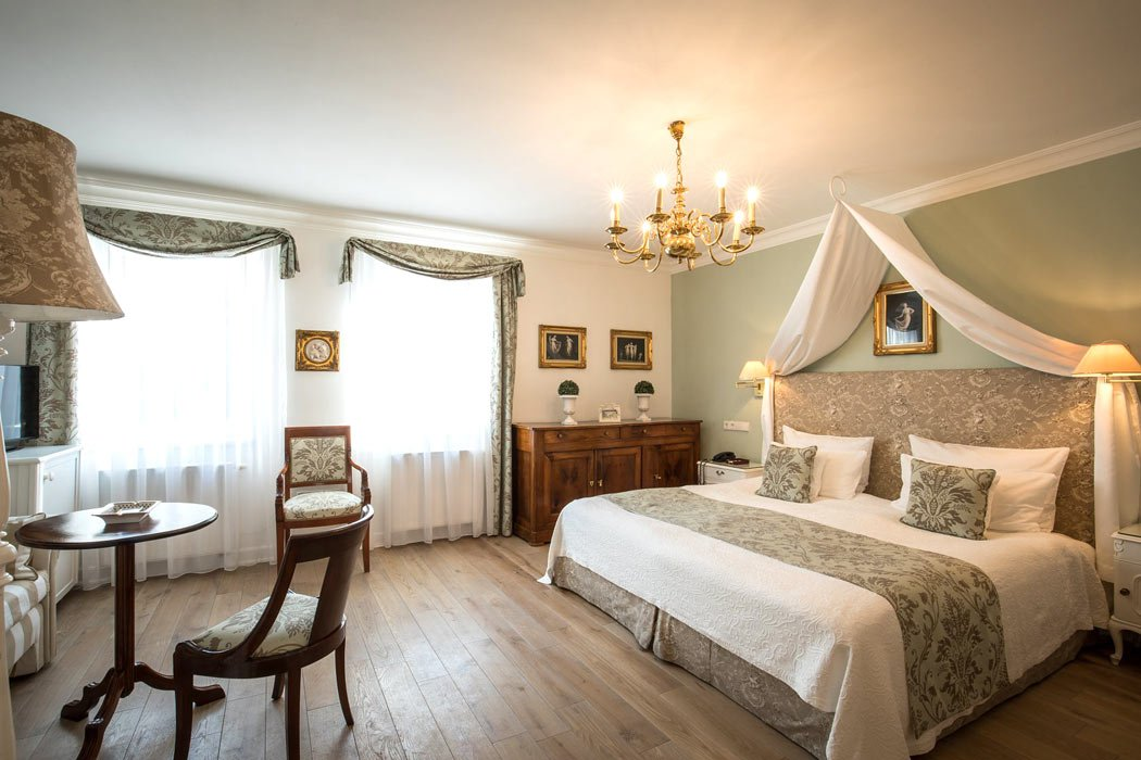 Guest rooms at Hotel Belle Epoque in Baden-Baden are individually decorated