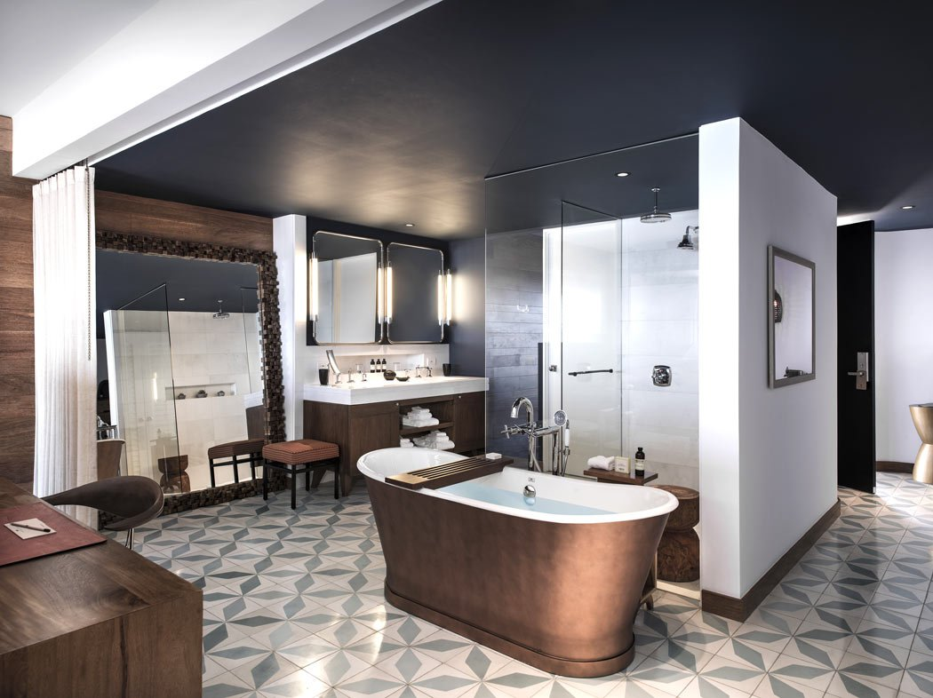 Hotels with luxury bathrooms include The Cape, a Thompson Hotel