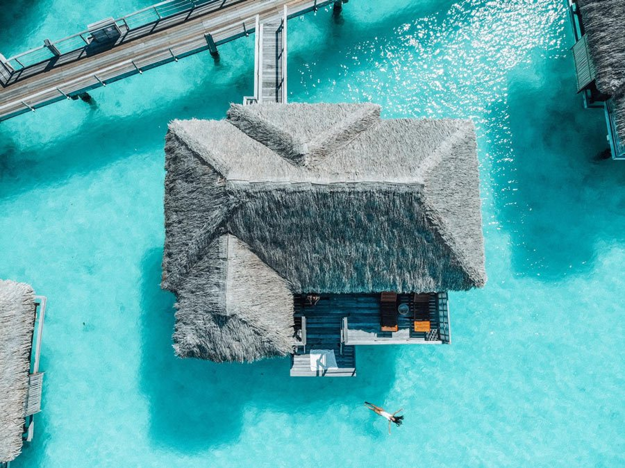 The Four Seasons Resort has some of the best overwater bungalows in Bora Bora!