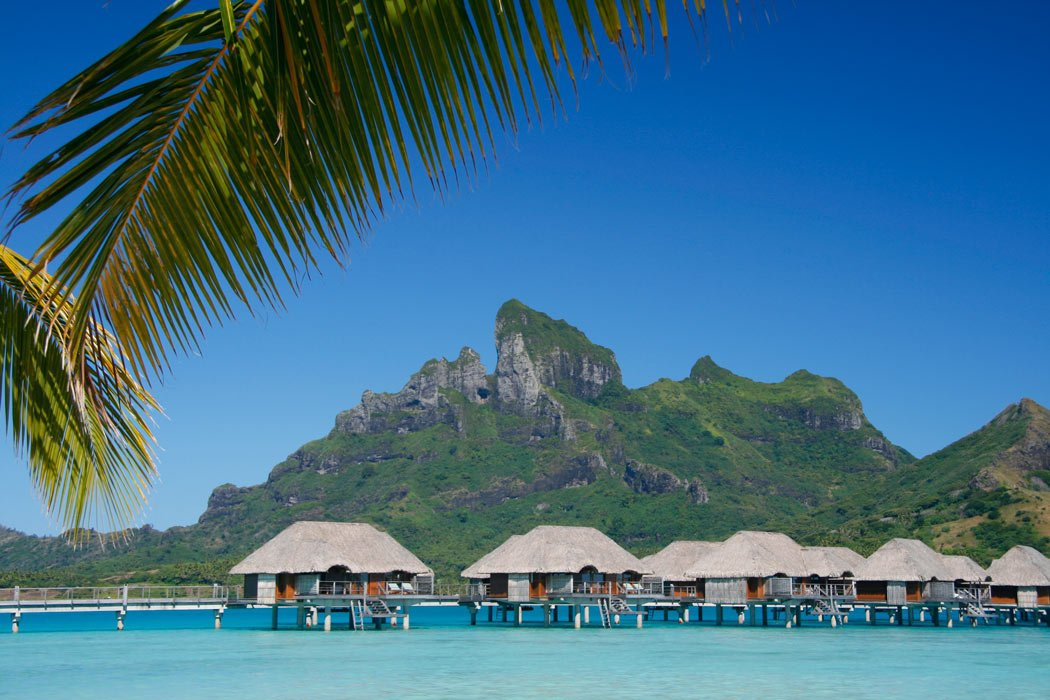 Four Seasons Resort bungalows over the water in Bora Bora