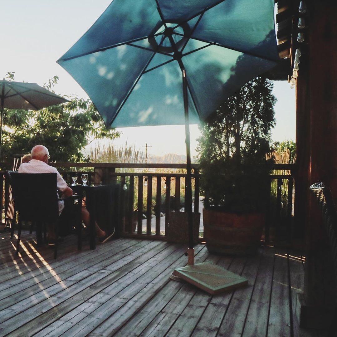 The terrace at Hillside Bistro, Naramata