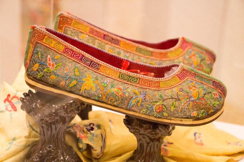 Beaded slippers at Pinang Peranakan Mansion, George Town, Malaysia