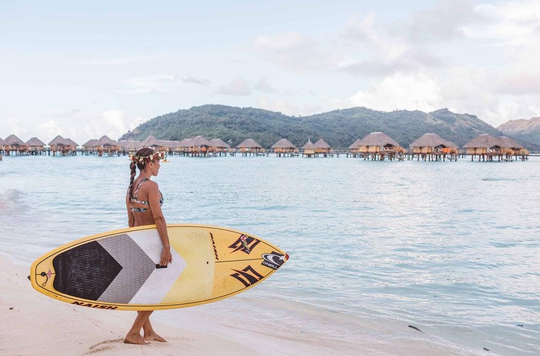 Go SUP boarding at the new Le Bora Bora resort.