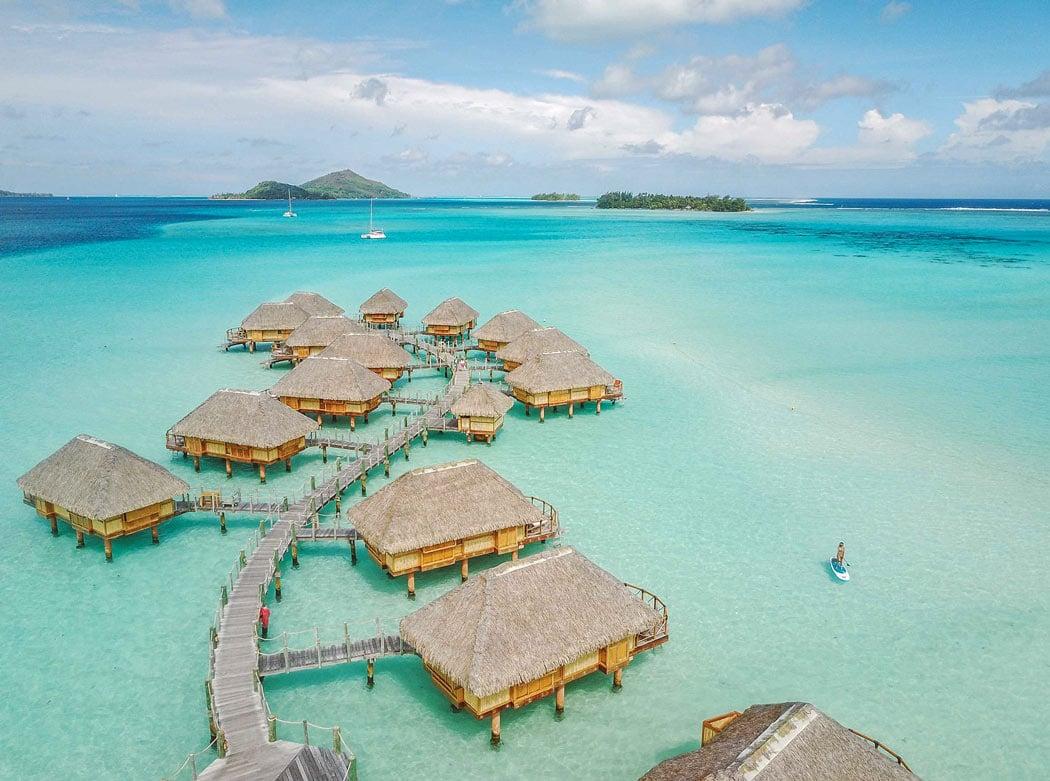 Le Bora Bora has 50 newly renovated overwater bungalows in Bora Bora