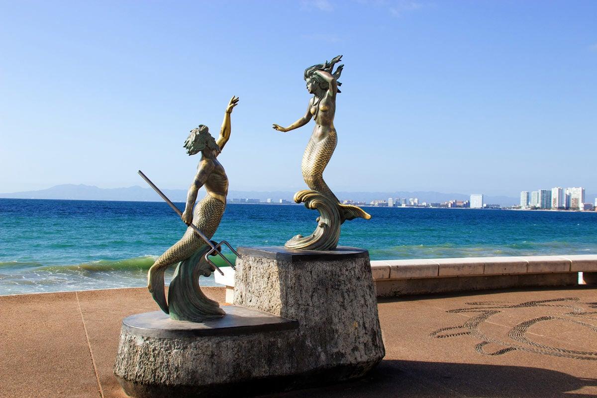 The Puerto Vallarta Malecon sculptures are some of the most beautiful Puerto Vallarta tourist attractions.
