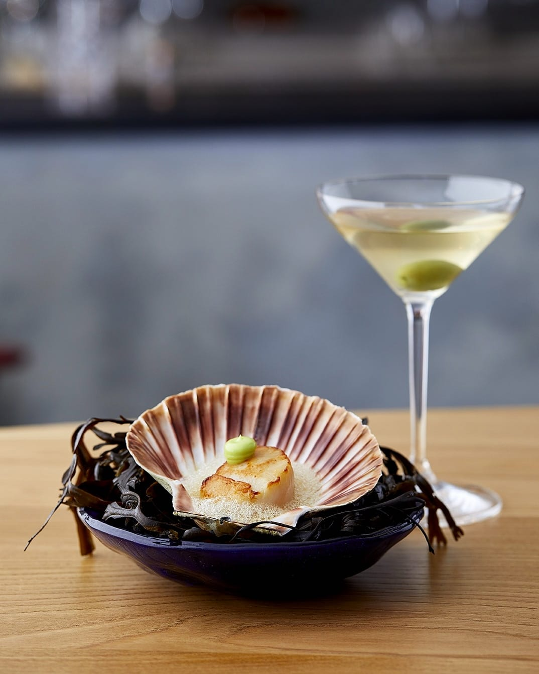 Scallops and martinis in the sophisticated lobby bar of One Aldwych
