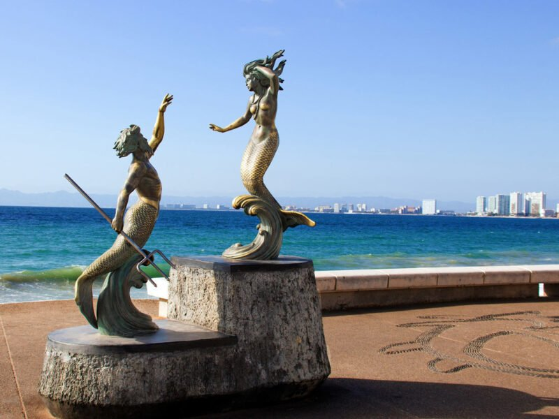Touring Puerto Vallarta's Malecon sculptures and art galleries
