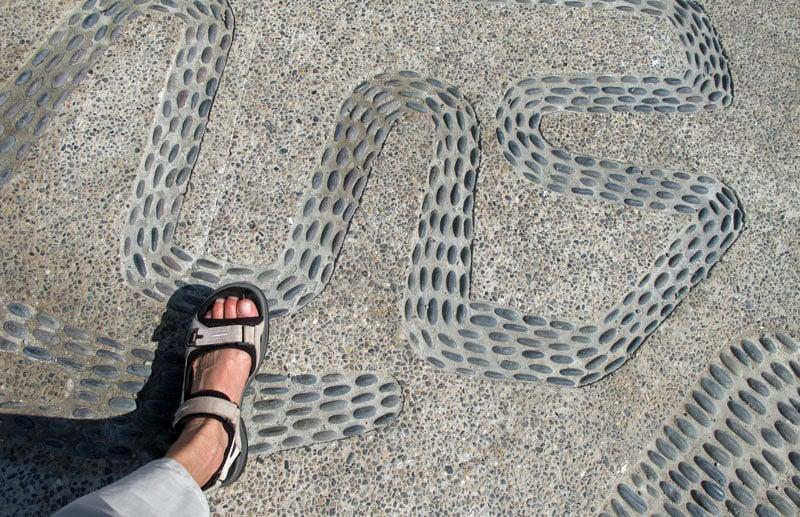 Puerto Vallarta Malecon: See the pebbled mosaics?