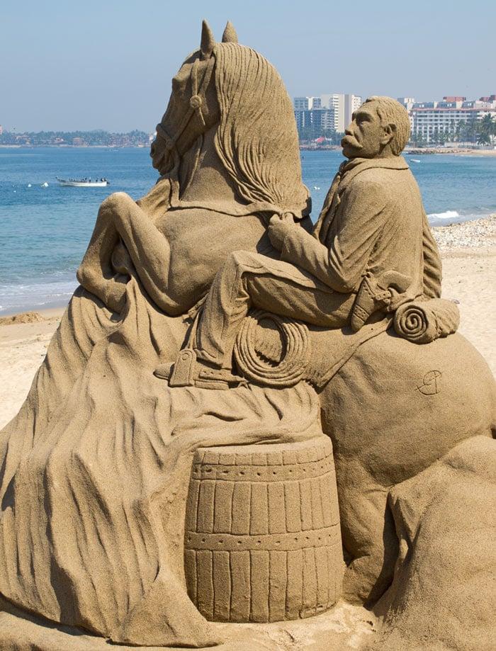 Puerto Vallarta sand castle sculpture