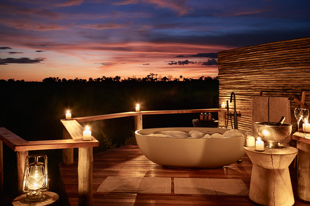 Sanctuary Retreats Baines Camp have some of the most beautiful hotel bathrooms in the world!