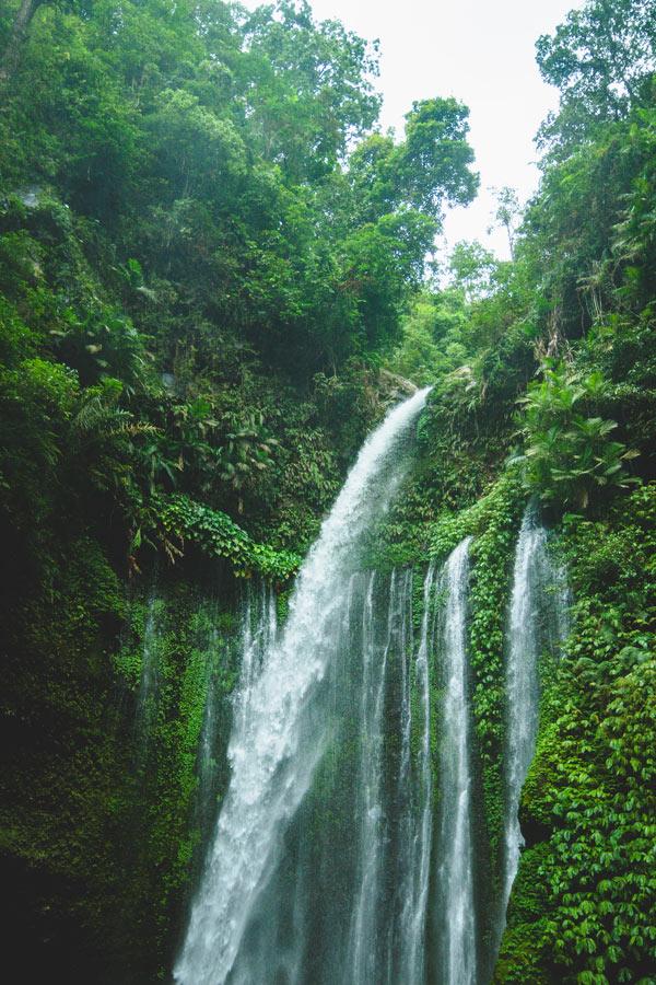 Sendang Waterfall on Lombok Island