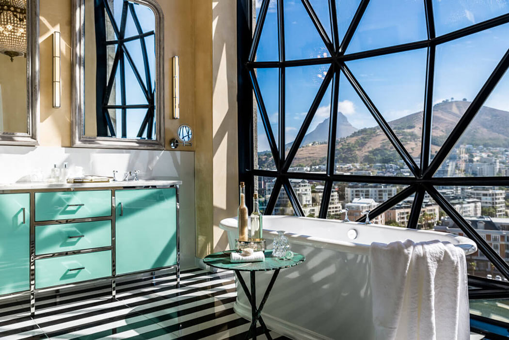 The Silo Cape Town has stunning luxury hotel bathrooms