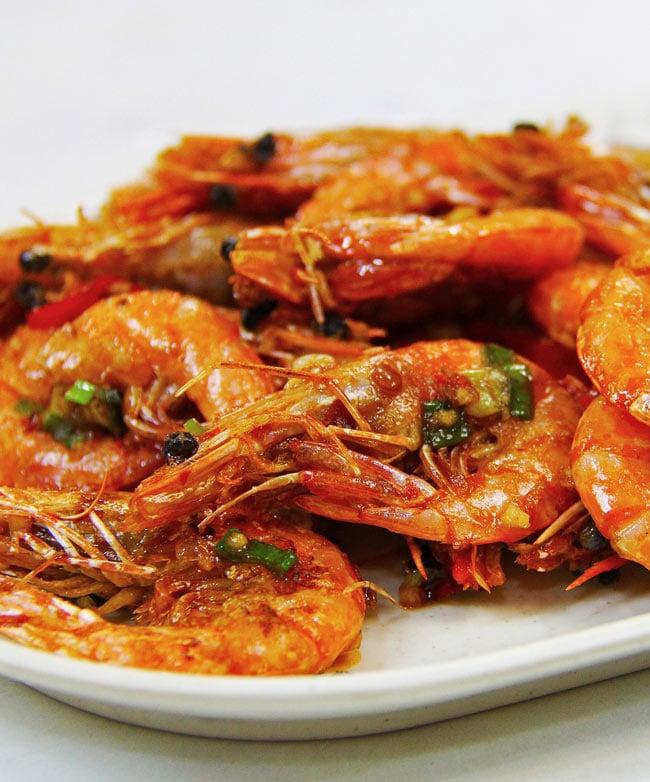 Enjoying a seafood lunch is popular in Tai O
