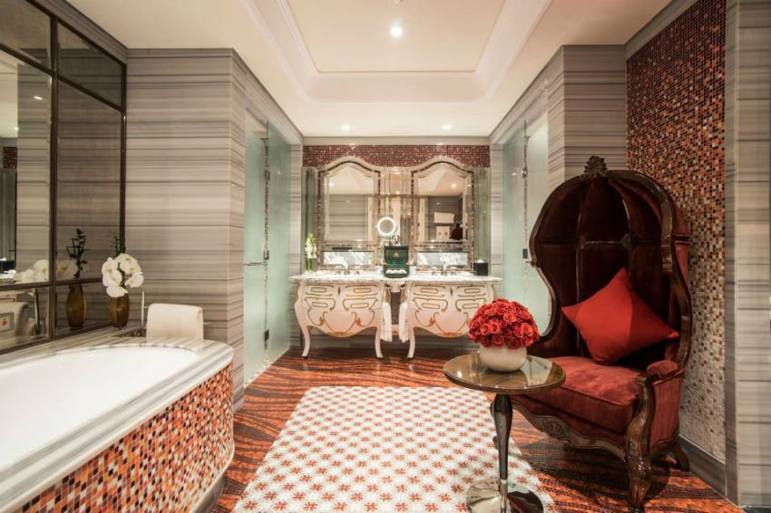 The world's best hotel bathrooms include the Reverie Saigon