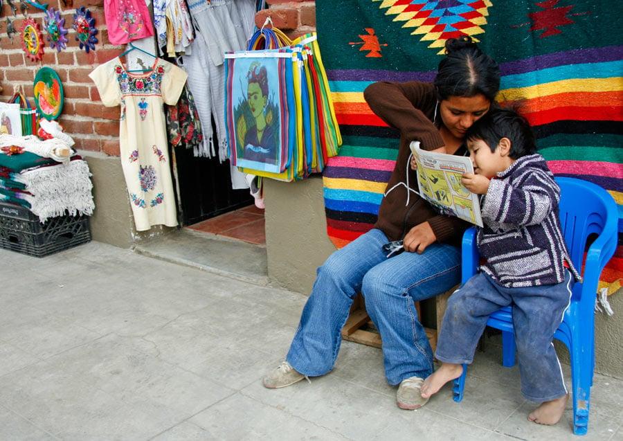 Mexican family in Todos Santos