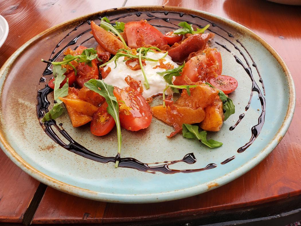 Tomato Salad at Serendipity Bistro, Naramata