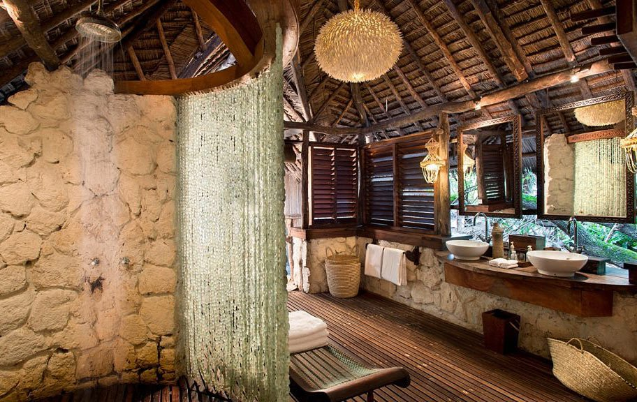 Mnemba Island Lodge has some of the coolest hotel bathrooms