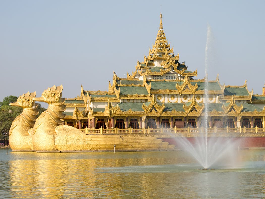 This replica of a royal barge on Kandawgyi Lake in Yangon is pretty glitzy!