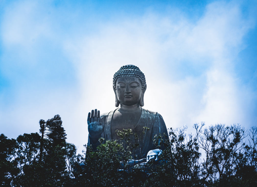 The big Buddha is probably the most popular attraction on Lantau Island