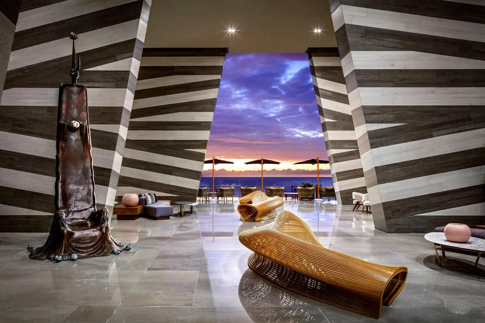 Step inside; you've entered the lobby of the Grand Velas Los Cabos