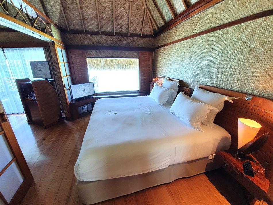 InterContinental Bora Bora Le Moana Resort overwater bungalow bedroom