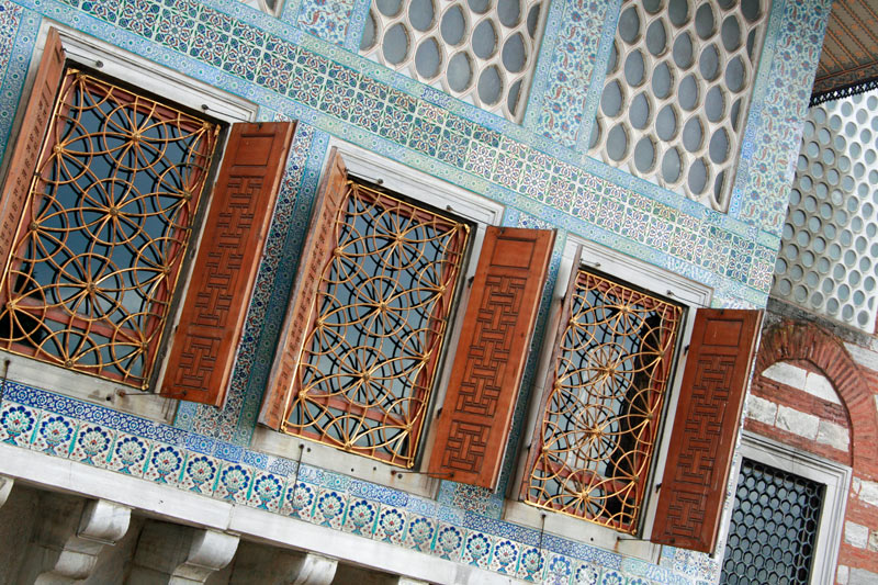 Windows in the Topkapi Palace harem