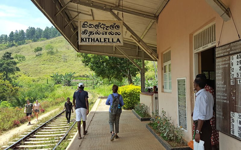 Kithalella Train Station - the starting point for the Ella Rock hike