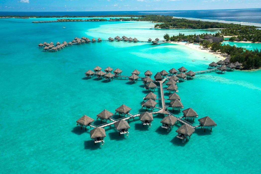 Le Meridien Bora Bora bungalows over the water