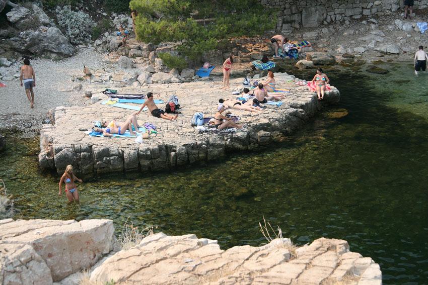 Swimming at Lokrum - a great getaway island so close to Dubrovnik