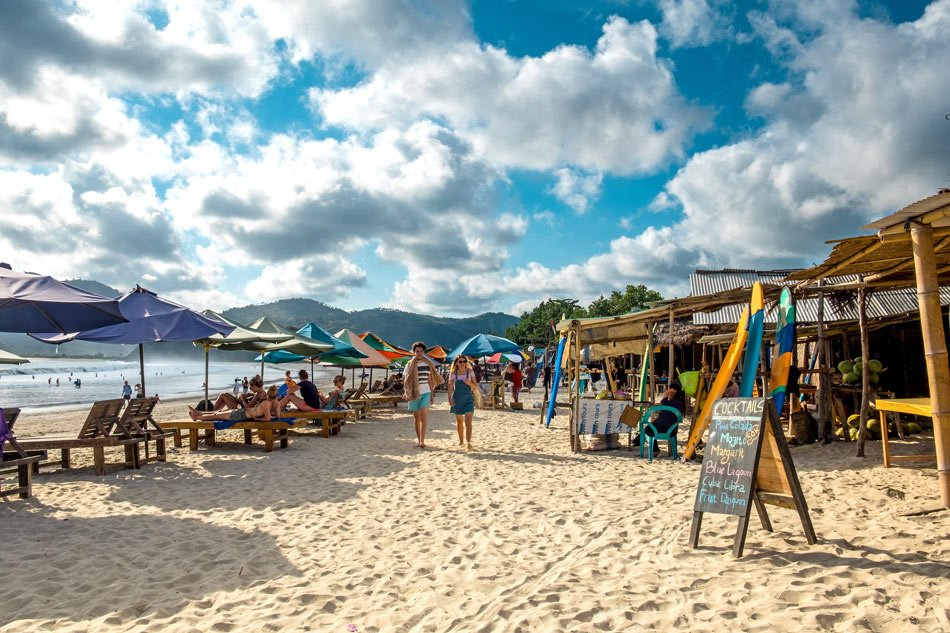Selong Belanak Beach is one of the best Lombok beaches for learning to surf