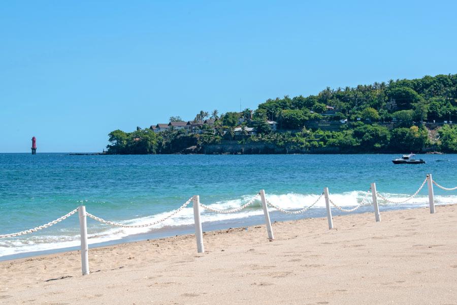 Several upscale hotels are located on Senggigi Beach, Lombok