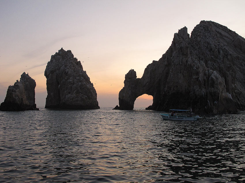 It's quite romantic to go on a sunset cruise in Cabo