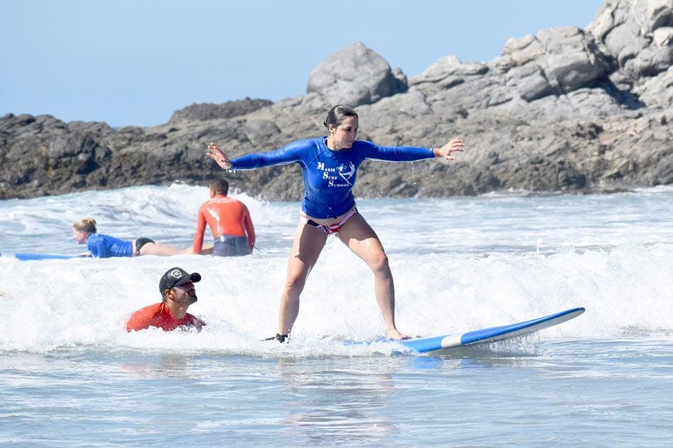 Surfing at Playa Los Cerritos, Mexico