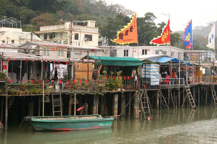 Tai O stilt village on Lantau Island